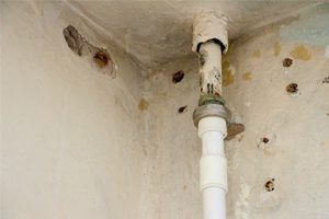 wall Leakage due to plumbing system failure