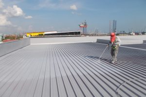 roof maintenance for stained roof